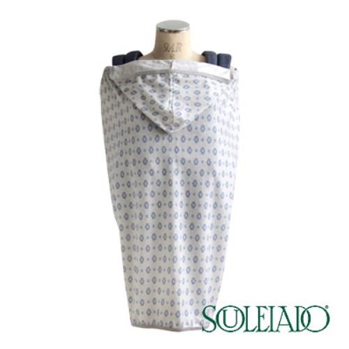 SOULEIADO 芙蓉抗UV防曬披巾(藍)