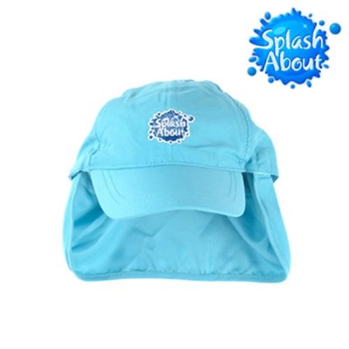 《Splash About 潑寶》Legionnaire Hat 抗UV遮頸帽 水藍Logo版